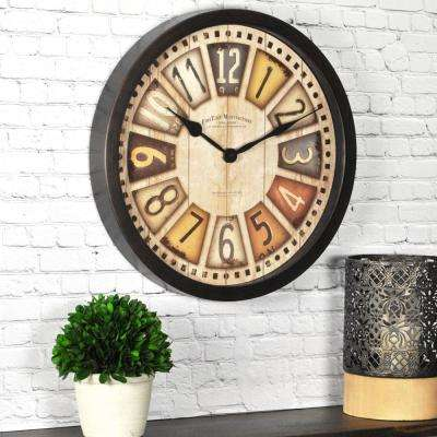 14 in. Round License Plates Wall Clock