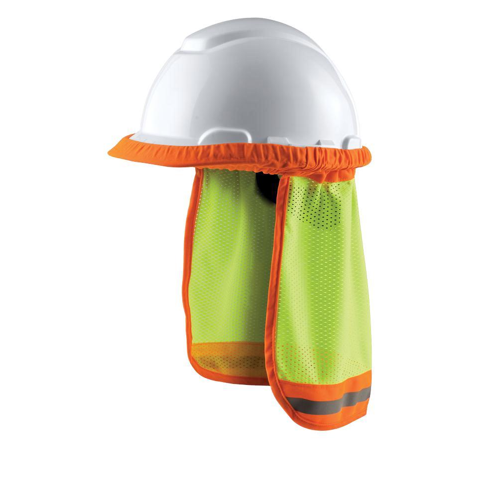 b7af761feb2 3M Hi-Viz Yellow Hard Hat Sun Shade (Case of 8)-94800-80030 - The Home Depot