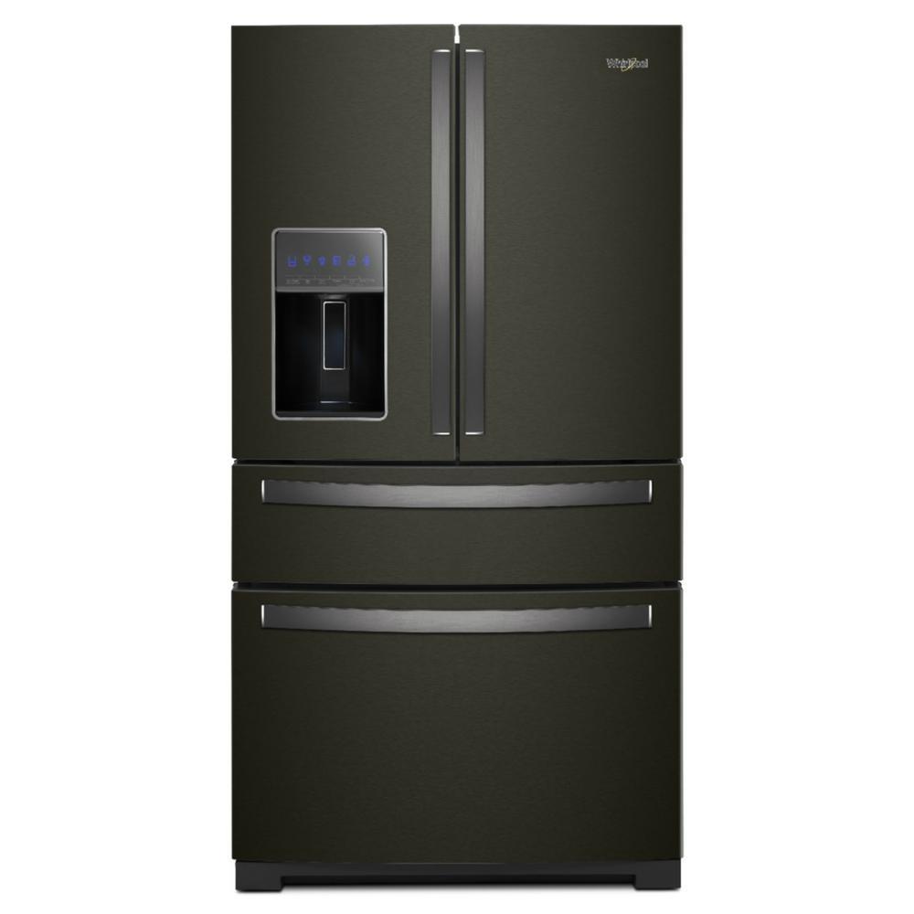 26 cu. ft. French Door Refrigerator in Fingerprint Resistant Black Stainless