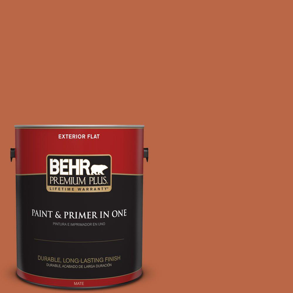 1 gal. #HDC-FL15-01 Pumpkin Drizzle Flat Exterior Paint
