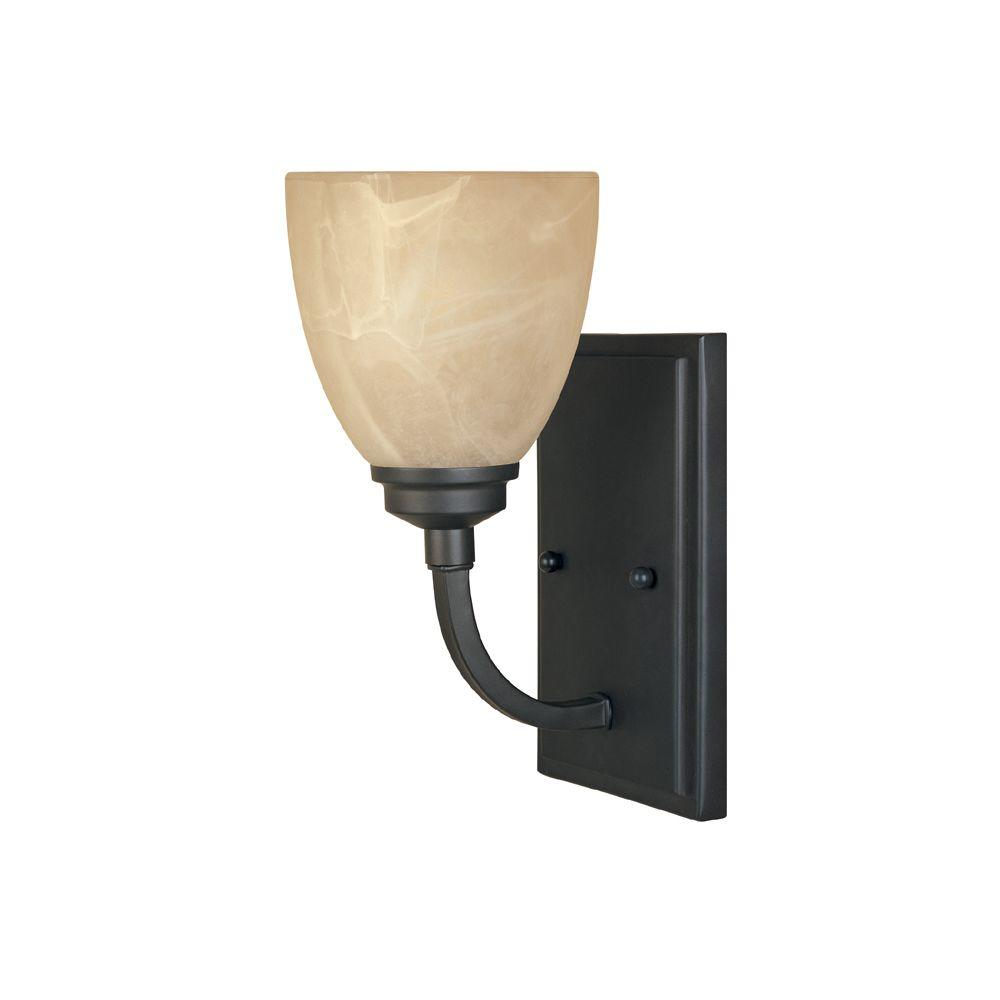 Manhattan 1 Light Burnished Bronze Wall Sconce