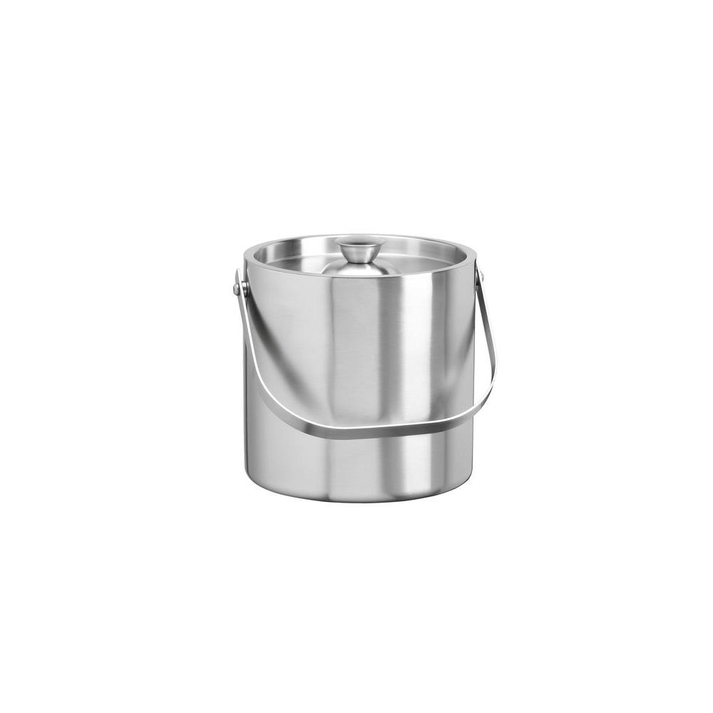 Kraftware 2.5 qt. Brushed Stainless Steel Insulated Ice Bucket