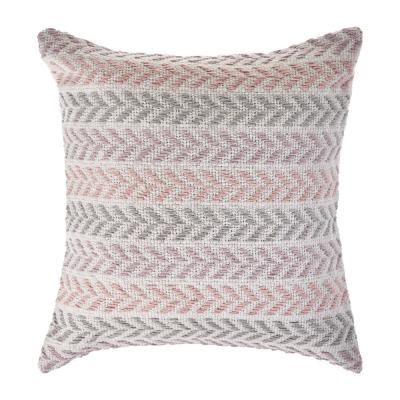 Chevron 18 in. Pastels Lilac and Gray Standard Square Decorative Throw Pillow
