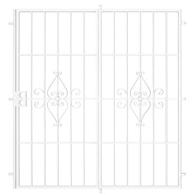 Su Casa 60 in. x 80 in. White Projection Mount Outswing Steel Patio Security Door with No Screen