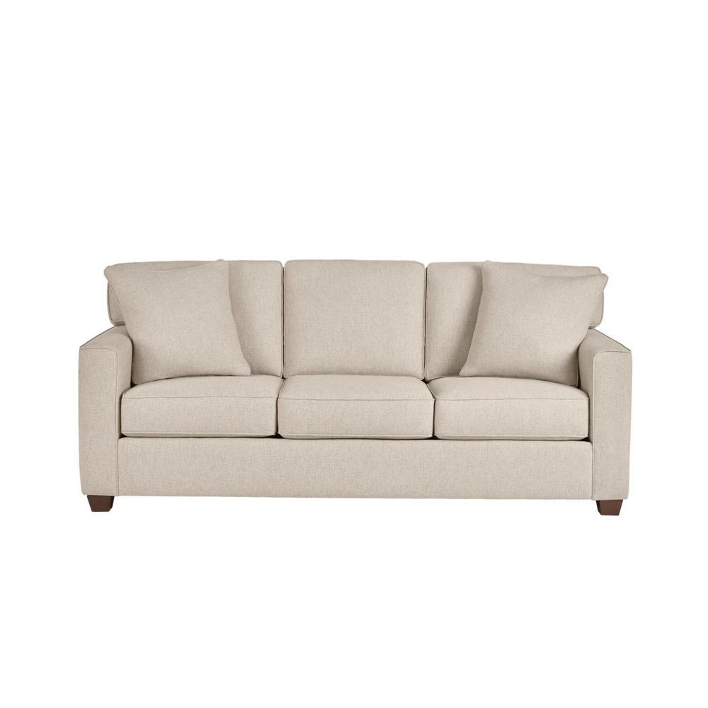 Woodfield Acuff Khaki Straight Standard Sofa (83.5 in. W x 37 in. H)