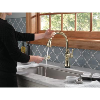 Cassidy Touch Single-Handle Pull-Down Sprayer Kitchen Faucet in Lumicoat Polished Nickel