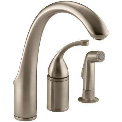 Forte Single-Handle Standard Kitchen Faucet with Side Sprayer in Vibrant Brushed Bronze