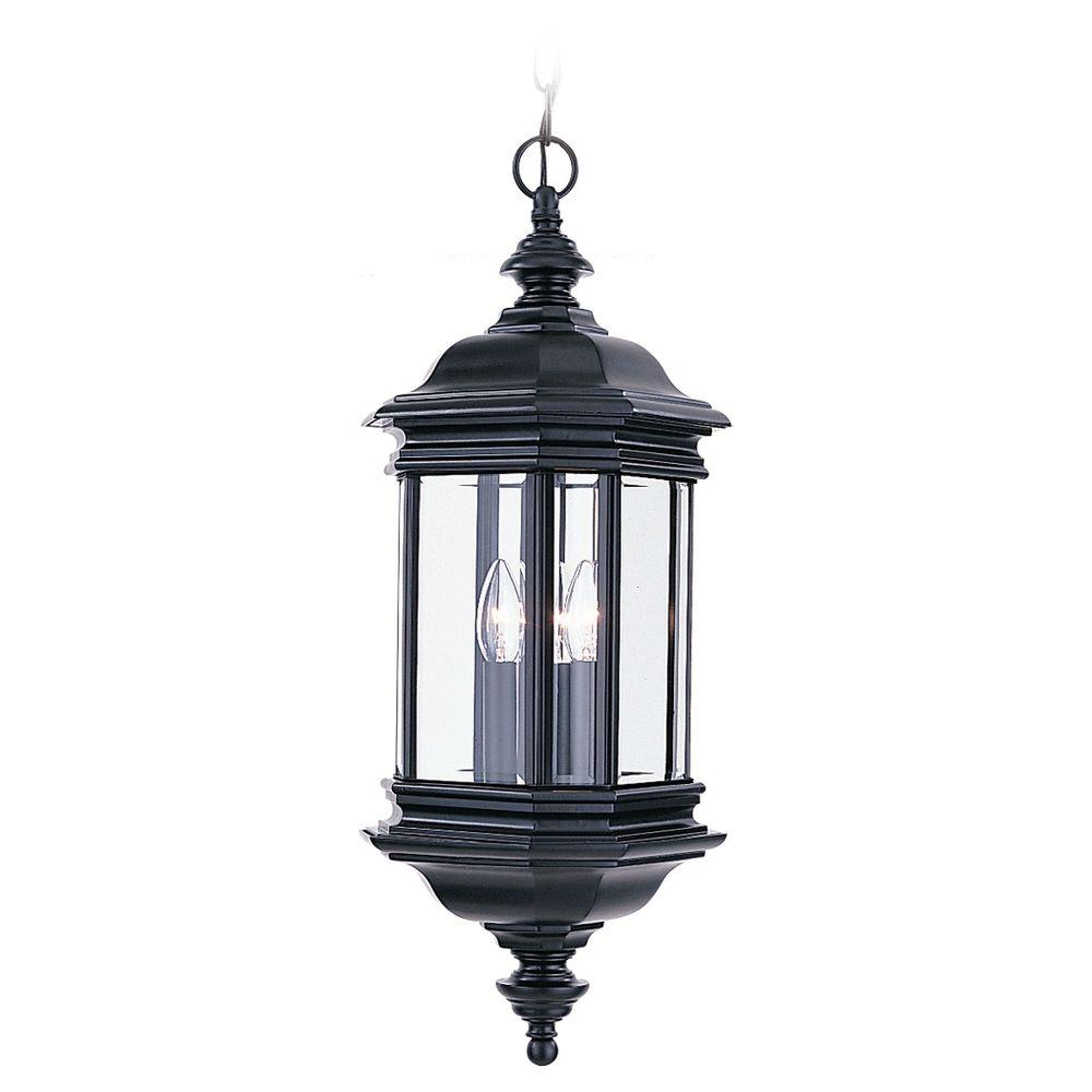 hanging outdoor lights sea gull lighting hill gate 3 light outdoor black hanging 28707