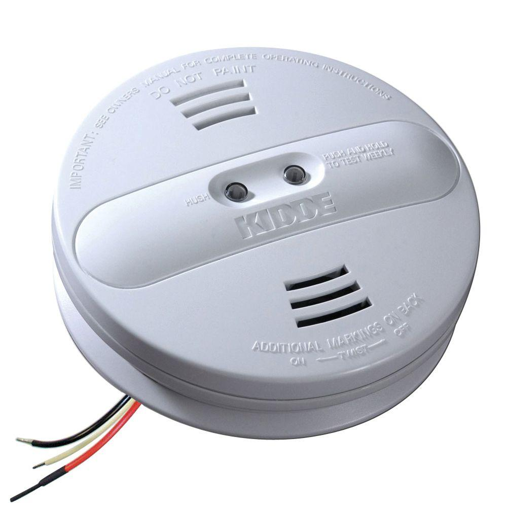 kidde smoke alarms 21007915 64_1000 kidde firex hardwired 120 volt inter connectable dual sensor  at n-0.co