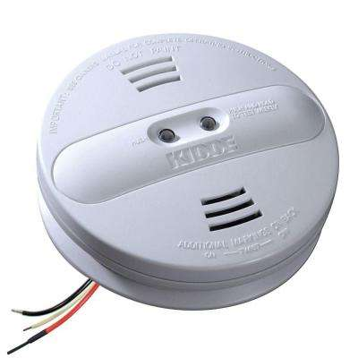 FireX Hardwired 120-Volt Inter-Connectable Dual Sensor Photoelectric and Ionization Smoke Alarm with Battery Backup