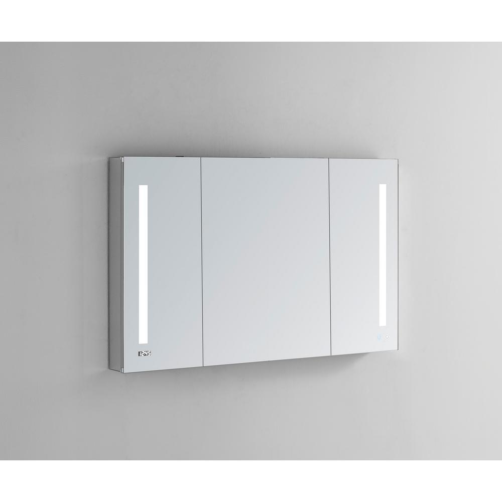 Aquadom Signature Royale 40 in W x 30 in. H Recessed or Surface Mount Medicine Cabinet with Tri-View Doors and LED Lighting