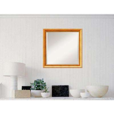 Townhouse Gold Wood 23 in. W x 23 in. H Traditional Framed Mirror
