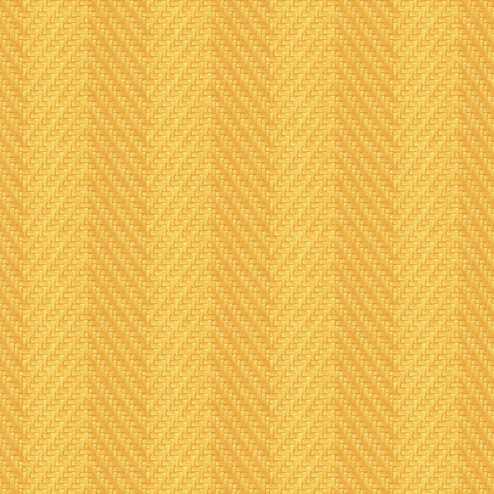 The Wallpaper Company 56 sq. ft. Lemon Woven Stripe Wallpaper