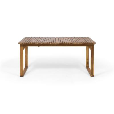 Sorrento Brown Patina Outdoor Expandable Acacia Wood Dining Table