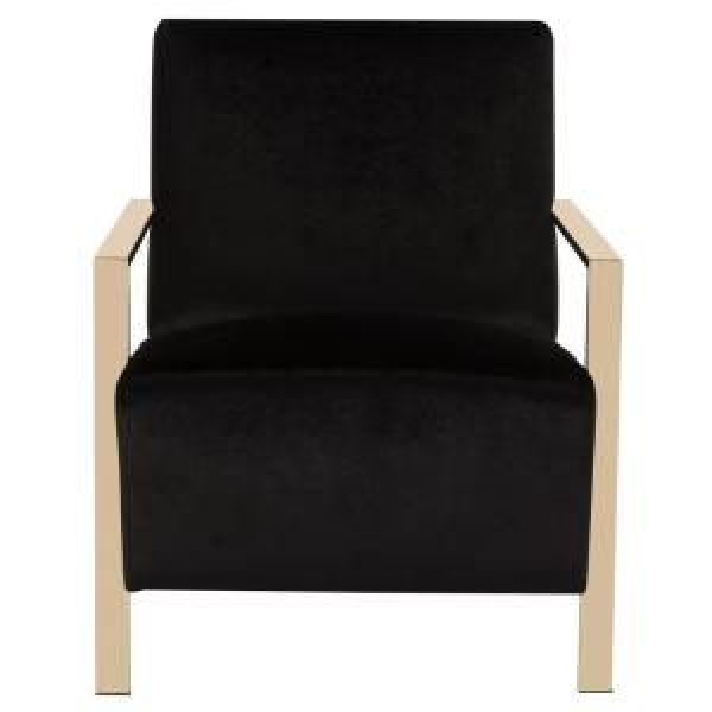 Sensational Safavieh Orna Black Accent Chair Fox6287B The Home Depot Creativecarmelina Interior Chair Design Creativecarmelinacom