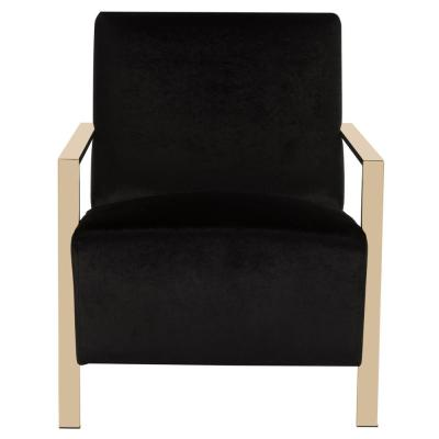 Orna Black Accent Chair