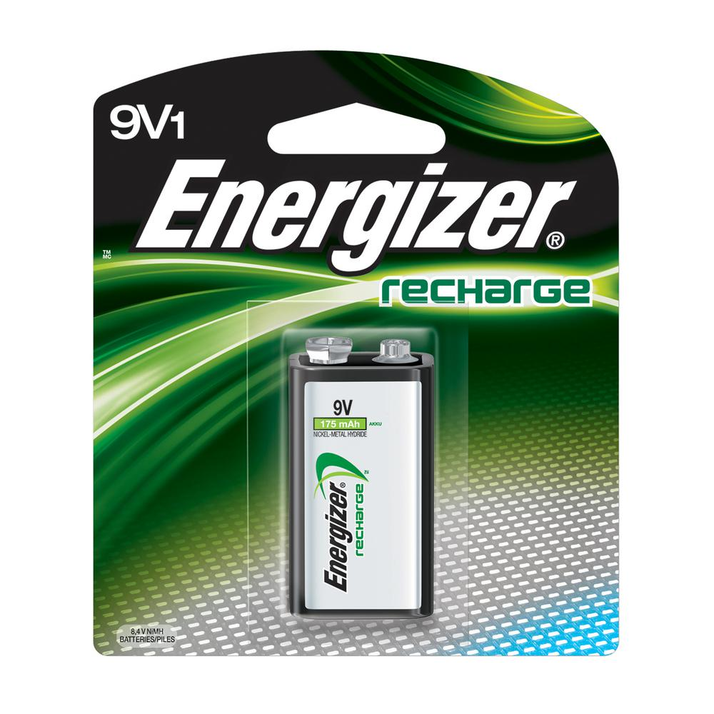 Energizer Rechargeable 9-Volt Batteries, NiMH, 175mAh (1-Pack)