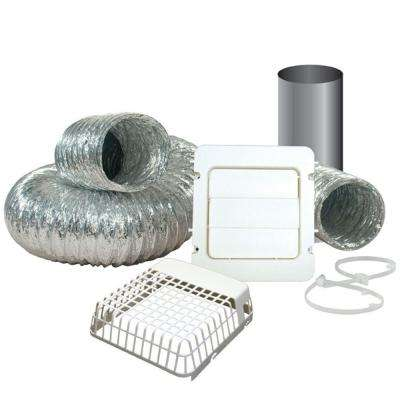 4 in. x 8 ft. Dryer Vent Kit with Guard