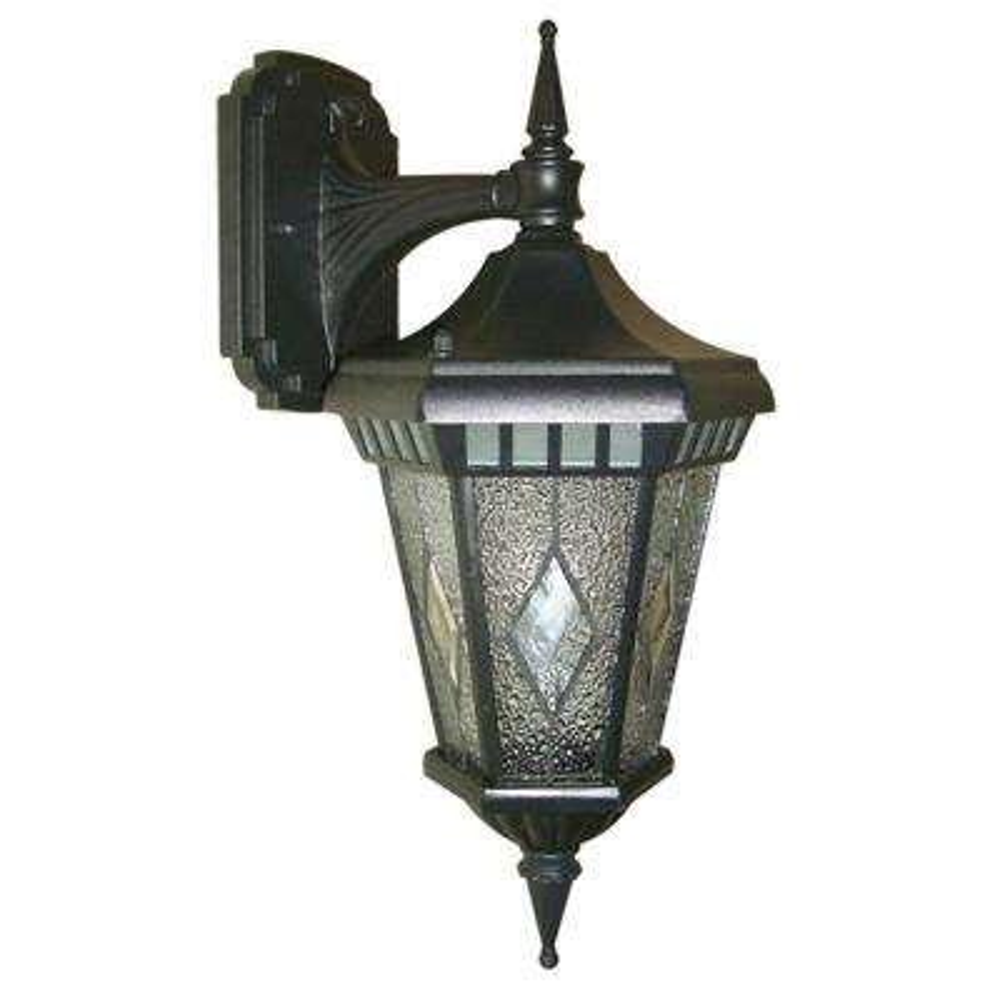 Verbier Collection 1-Light Black Outdoor Wall Lantern