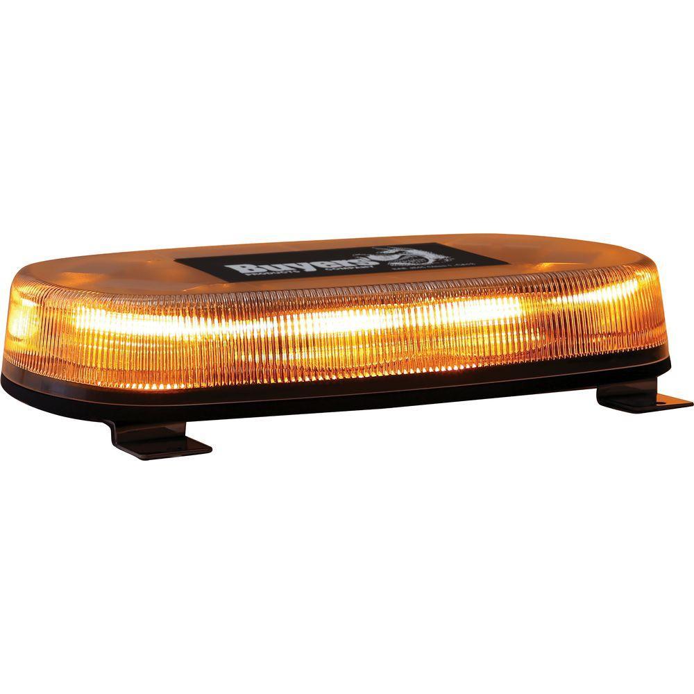 LED Permanent Mount Amber Mini Light Bar