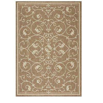 Tendril Taupe/Champagne 5 ft. 10 in. x 9 ft. 2 in. Area Rug