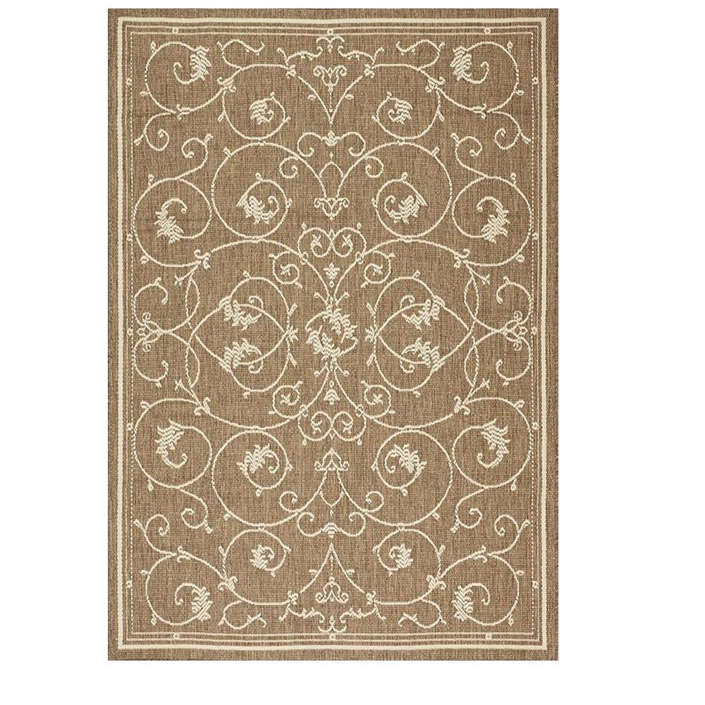 Home Decorators Collection Tendril Taupe Champagne 8 Ft 6