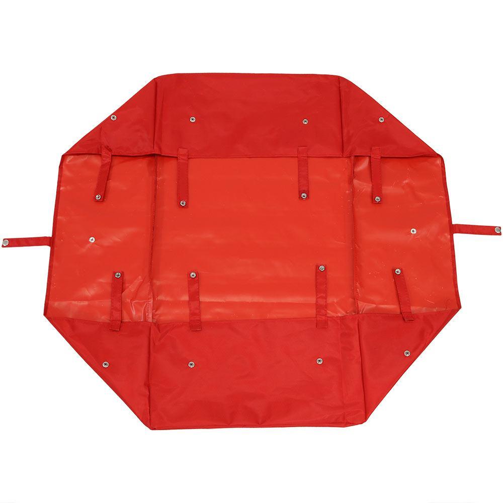 Red Steel Heavy-Duty Utility Garden Cart Polyester Liner