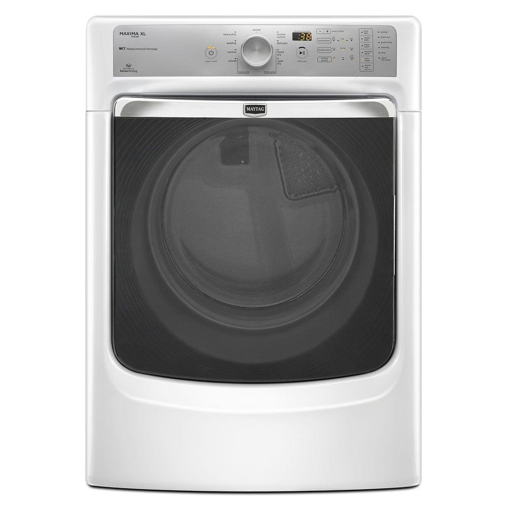 Maytag Maxima XL 7.4 cu. ft. Gas Dryer with Steam in White-DISCONTINUED