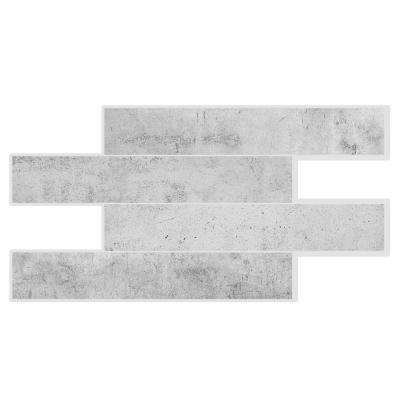 Norway Alta 22.56 in. W x 11.58 in. H Grey Peel and Stick Self-Adhesive Mosaic Wall Tile Backsplash (2-Pack)