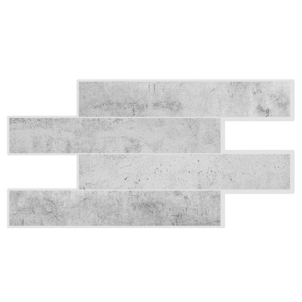 Smart Tiles Norway Alta 22.56 in. W x 11.58 in. H Grey Peel and Stick Self-Adhesive Mosaic Wall Tile Backsplash (2-Pack)