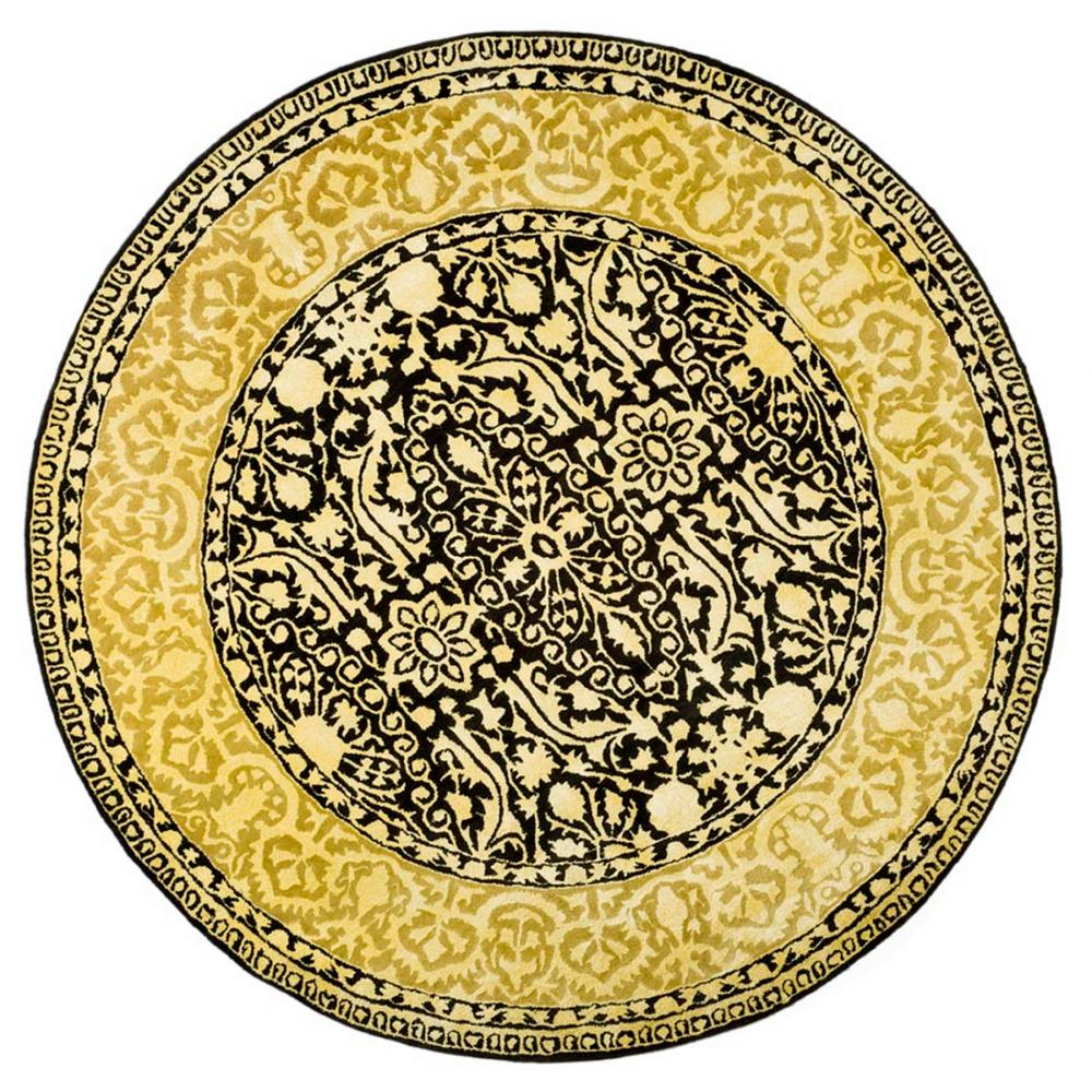 Silk Road Black/Ivory 8 ft. x 8 ft. Round Area Rug