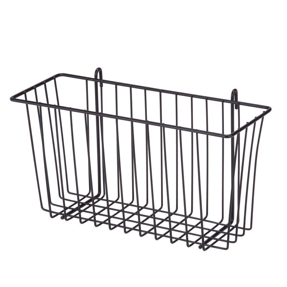 8.8 Qt. Shelf Accessory Storage Basket in Black