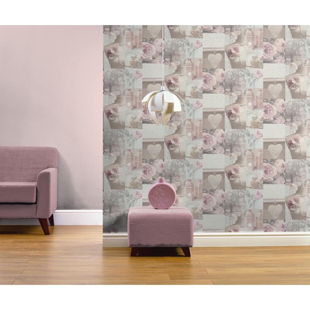 Charlotte Multi Blush Un-Pasted Wallpaper