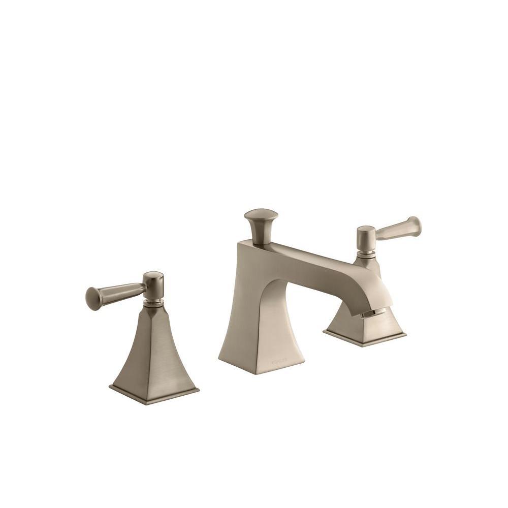 KOHLER Memoirs 2-Handle Bath or Deck-Mount High-Flow Bath Faucet Trim in Vibrant Brushed Bronze (Valve Not Included)