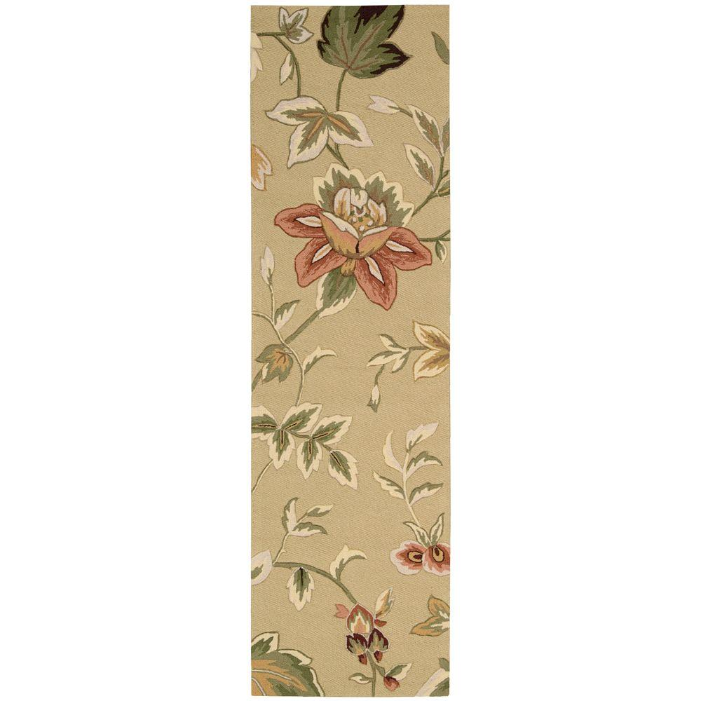 Nourison French Country Beige 2 ft. 3in. x 8 ft. Rug Runner