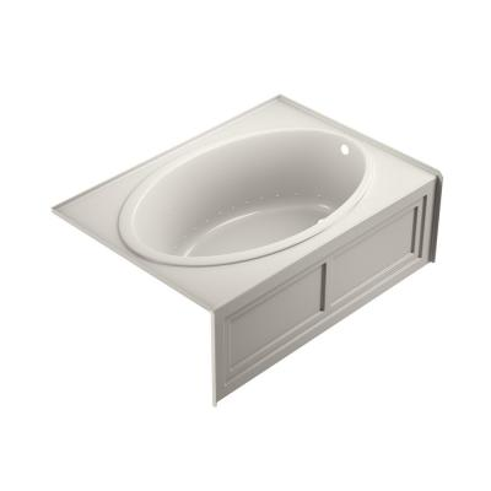 NOVA PURE AIR 60 in. x 42 in. Acrylic Right-Hand Drain Rectangular Alcove Air Bath Bathtub in Oyster