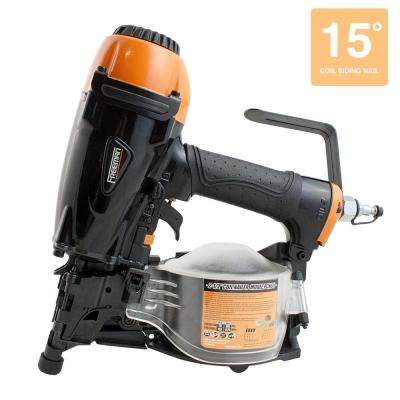 Pneumatic 1-1/4 in. x 2-1/2 in. 15-Degree Coil Siding Nailer