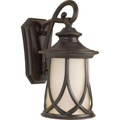 Resort Collection 1-Light Aged Copper 23.5 in. Outdoor Wall Lantern Sconce
