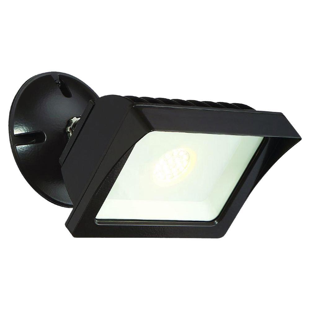 EnviroLite Bronze Outdoor LED Adjustable Single-Head Flood Light