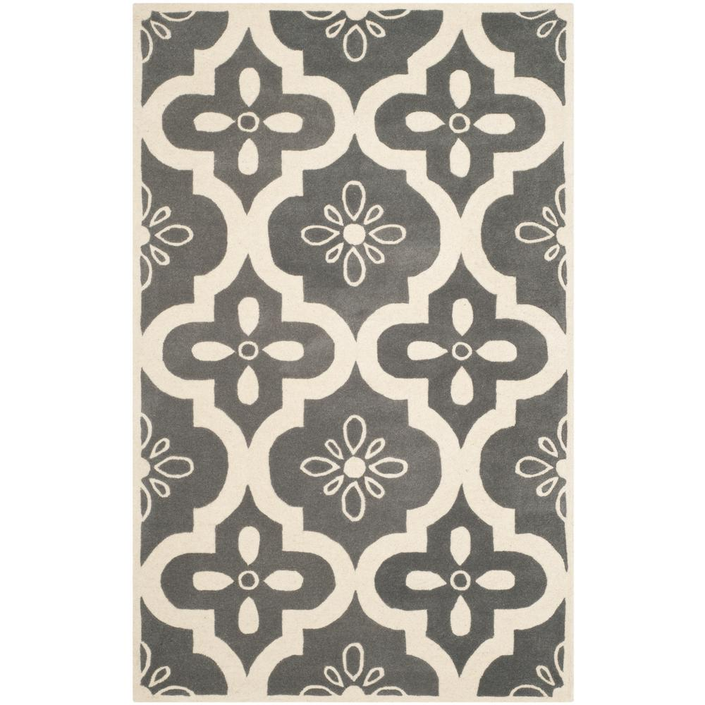 Chatham Dark Gray/Ivory 6 ft. x 9 ft. Area Rug