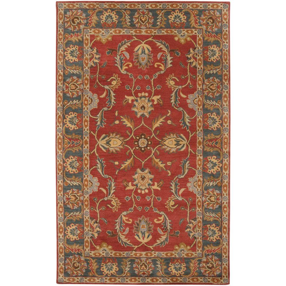 John Rust Red 5 ft. x 8 ft. Area Rug