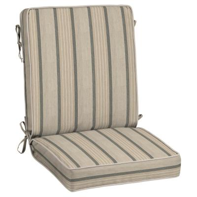 21 x 44 Sunbrella Cove Pebble Outdoor Dining Chair Cushion