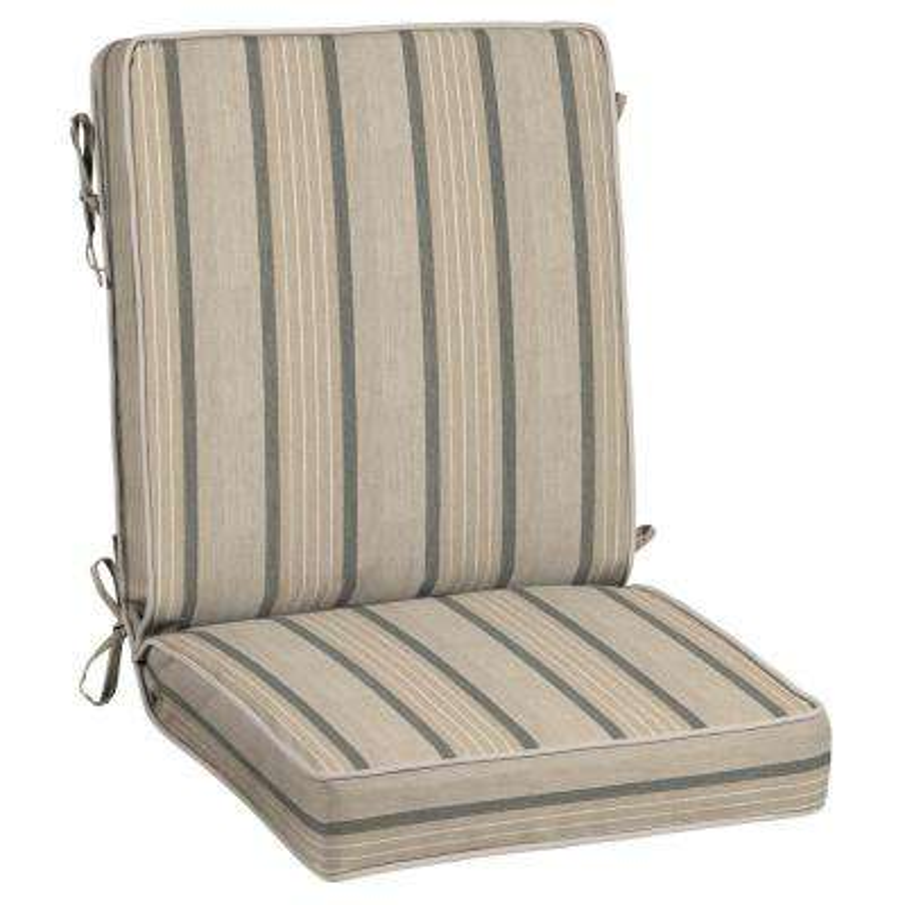 21 x 20 Sunbrella Cove Pebble Outdoor Dining Chair Cushion