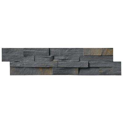 Charcoal Rust Ledger Panel 6 in. x 24 in. Natural Quartzite Wall Tile (10 cases / 40 sq. ft. / pallet)