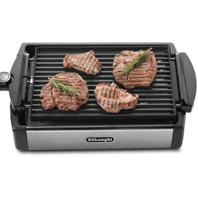 DeLonghi-2-in-1 Reversible 140 sq. in. Stainless Steel Indoor Grill with Non-Stick Surface