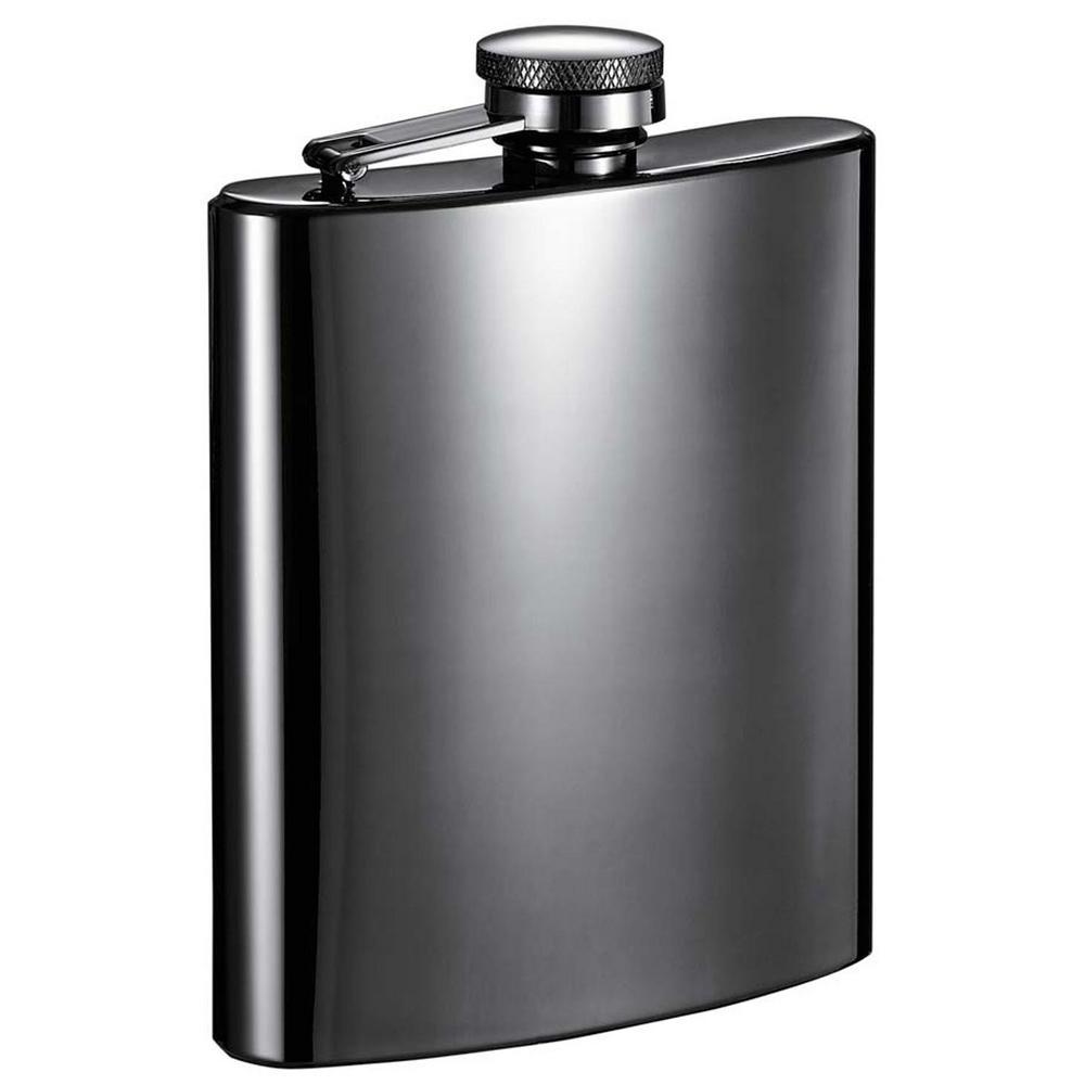 8 oz. Outlaw Gunmetal Liquor Flask