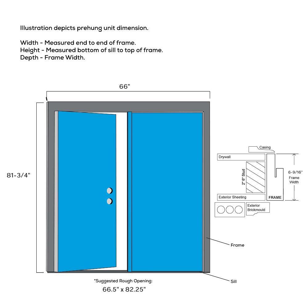 Mmi Door 64 In X 80 In Viola Left Hand Inswing 1 Lite Clear Low E Painted Fiberglass Smooth Prehung Front Door Z0348660l The Home Depot
