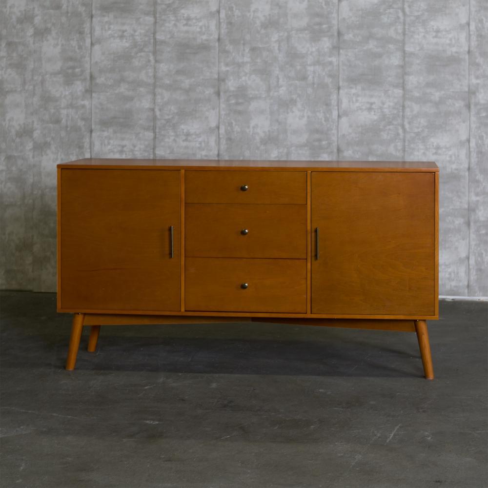 940a39f87db52 +2. Walker Edison Furniture Company 60 in. Mid-Century Modern Wood TV  Console - Acorn