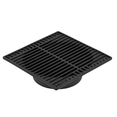 9 in. Plastic Square Drainage Grate in Black