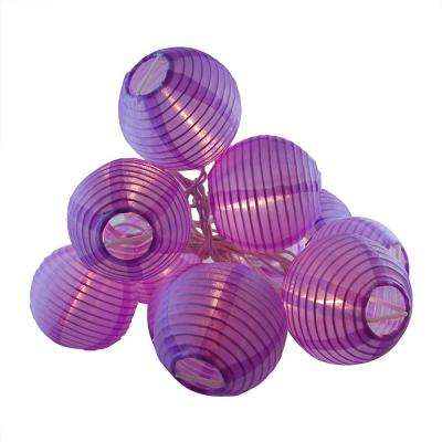 Nylon Lantern String Lights in Purple